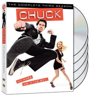 Chuck season three on DVD