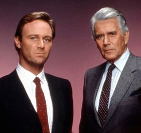 Christopher Cazenove and John Forsythe