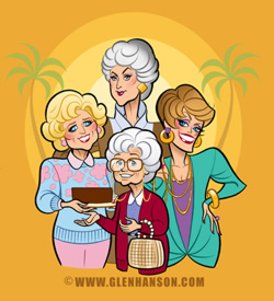 The Golden Girls - illustration by Glen Hanson