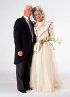 Dorothy and Lucas wed on The Golden Girls