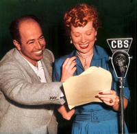 Jess Oppenheimer and Lucille Ball