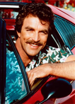 Tom Selleck as Magnum P.I. on TV, not in the movies