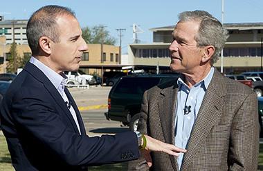 Matt Lauer and George Bush