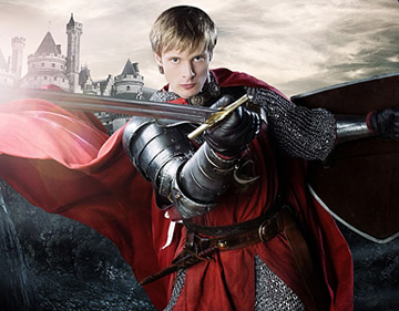 King Arthur on Merlin