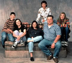 The cast of Roseanne