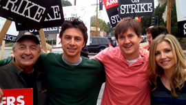 Scrubs WGA supporters