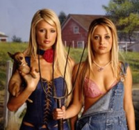Nicole Richie and Paris Hilton on The Simple Life