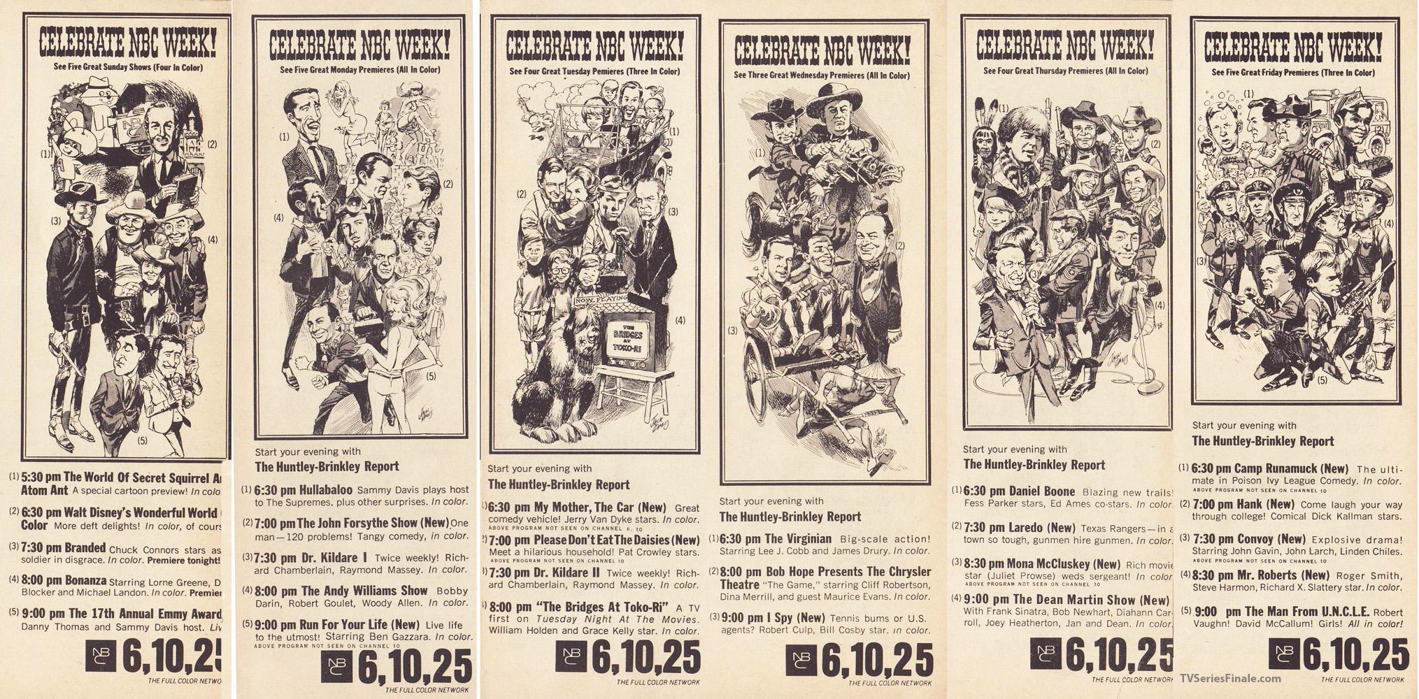 jack davis (mad) art of nbc 1965-66 fall schedule