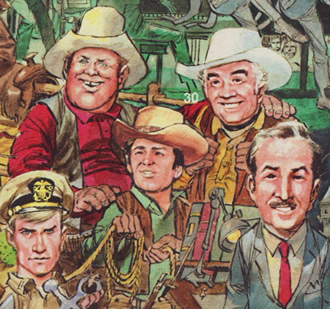 Jack Davis art for NBC & TV Guide