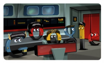Star Trek tribute on Google
