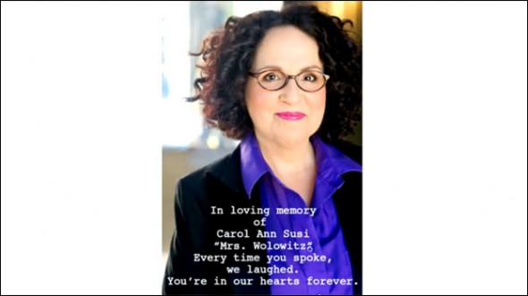 Big Bang Theory tribute to Carol Ann Susi