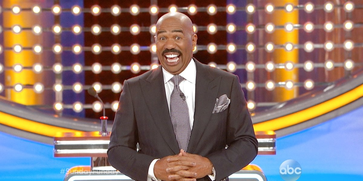 'Celebrity Family Feud' Host Steve Harvey Saves Show From ...