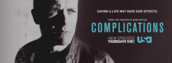 Complications TV show on USA Network:  ratings (cancel or renew?)