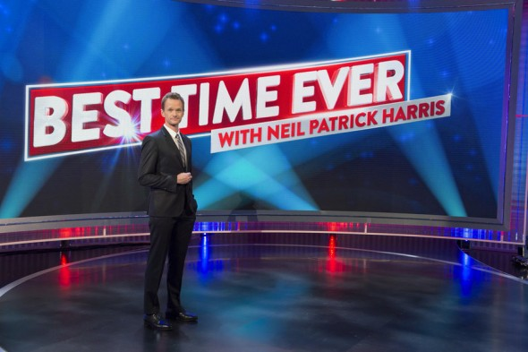 Best Time Ever with Neil Patrick Harris TV show on NBC: canceled, no season 2