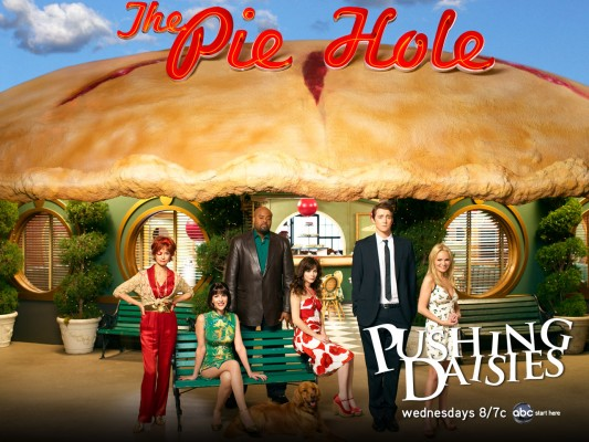 Pushing Daisies TV show on ABC: canceled, no season 3