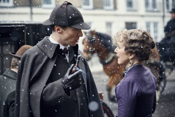 Sherlock TV show on BBC One and PBS; Sherlock: the Abominable Bride; Victorian special episode
