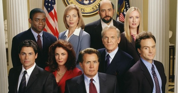 The West Wing TV show on NBC: reunion.