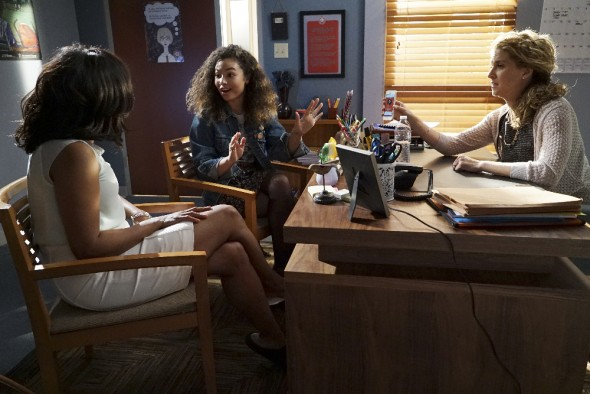 (ABC Family/Eric McCandless) Sharon Leal, Jessica Sula, Alexis Carra