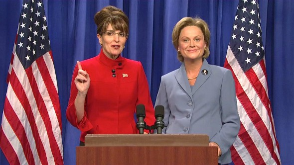 Saturday Night Live Tina Fey as Sarah Palin; Amy Poehler as Hillary Clinton