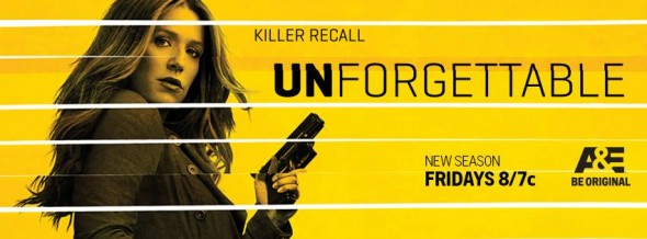 Unforgettable TV show on A&E: ratings (cancel or renew?)