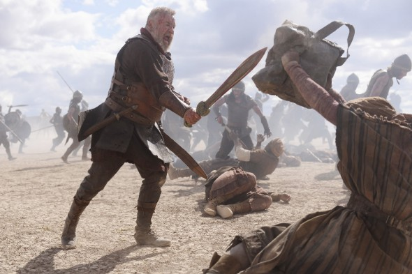 OF KINGS AND PROPHETS - An epic biblical saga of faith, ambition and betrayal as told through the eyes of the battle-weary King Saul, the resentful prophet Samuel and the resourceful young shepherd David - all on a collision course with destiny that will change the world. (ABC/Trevor Adeline) RAY WINSTONE