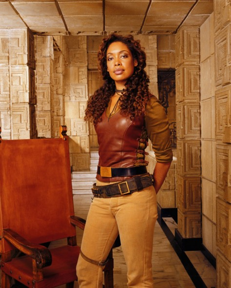 Firefly TV show on FOX; Angel TV show on The WB; Actress Gina Torres Gina Torres as Zoe Alleyne Washburne on Firefly