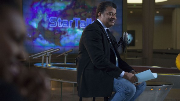 Neil deGrasse Tyson filming StarTalk, on National Geographic Channel. (photo credit: Nat Geo Studios)