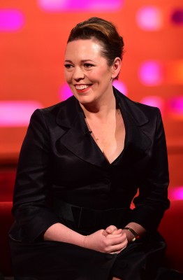 Olivia Colman during the filming of the Graham Norton Show at The London Studios, south London, to be aired on BBC One on Friday evening.Photo Credit: © BBC