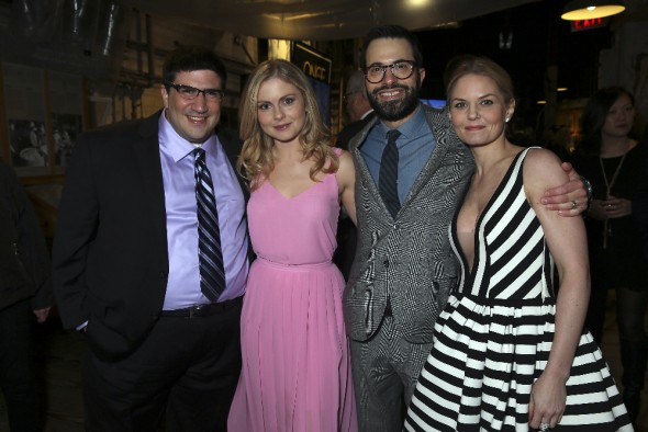 (ABC/Jack Rowand) ADAM HOROWITZ (EXECUTIVE PRODUCER, ONCE UPON A TIME), ROSE MCIVER, EDWARD KITSIS (EXECUTIVE PRODUCER, ONCE UPON A TIME), JENNIFER MORRISON
