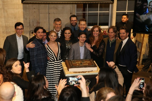 (ABC/Jack Rowand) ANDREW CHAMBLISS (EXECUTIVE PRODUCER, ONCE UPON A TIME), COLIN O'DONOGHUE, ADAM HOROWITZ (EXECUTIVE PRODUCER, ONCE UPON A TIME), JENNIFER MORRISON, STEVE PEARLMAN (EXECUTIVE PRODUCER, ONCE UPON A TIME), LANA PARRILLA, EDWARD KITSIS (EXECUTIVE PRODUCER, ONCE UPON A TIME), JARED GILMORE, JOSH DALLAS, REBECCA MADER, ROBERT CARLYLE, SEAN MAGUIRE
