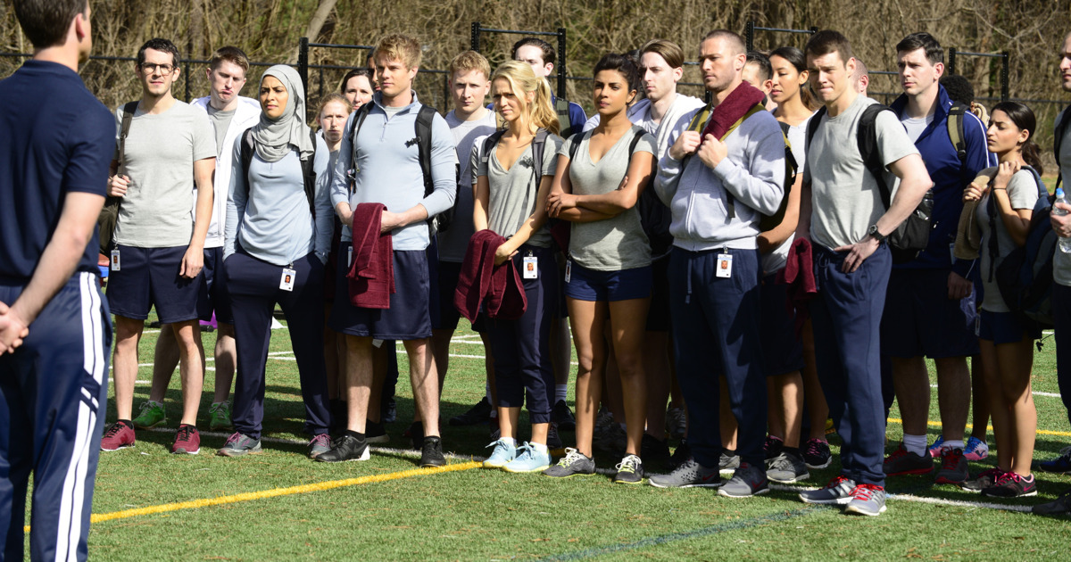 quantico new nat arrival teased for season two canceled tv shows tv series finale. Black Bedroom Furniture Sets. Home Design Ideas