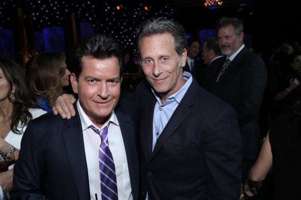Pictured: (l-r) Charlie Sheen, Steven Weber -- (Photo by: Chris Haston/NBC)