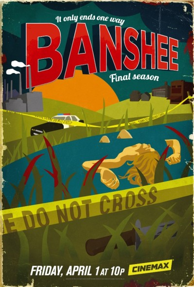 Banshee TV show on Cinemax: season 4, no season 5; poster