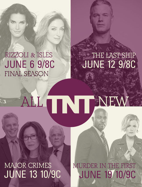 Murder in the First, Rizzoli & Isles, Animal Kingdom: TNT Teases
