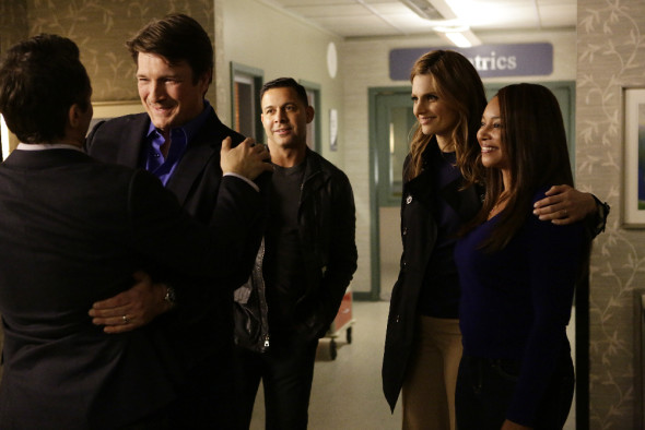 Nathan Fillion, Jon Huertas, Stana Katic, Tamala Jones. (ABC/Nicole Wilder.)