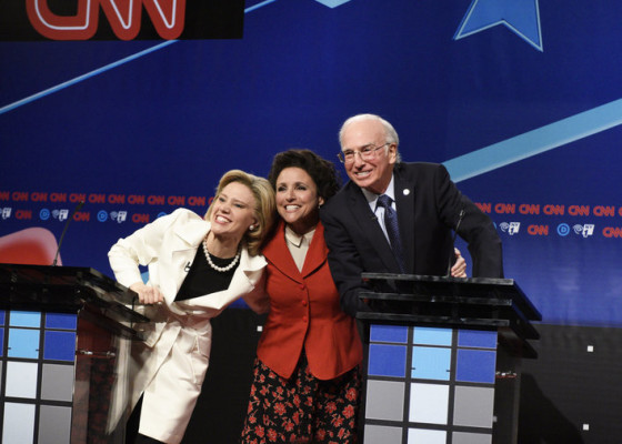 "Saturday Night Live TV show on NBC: Seinfeld ""Elaine and Bernie Sanders"" sketch"