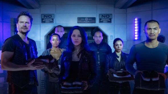 Dark Matter TV show on Syfy: season 2 (canceled or renewed?). Franka Potente joins Dark Matter season two.