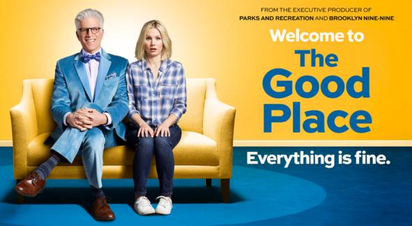 The Good Place TV show on NBC season 1 (canceled or renewed?).