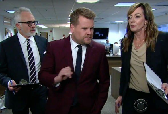 The West Wing Cj Cregg And Josh Lyman Reunite On Late Late Show