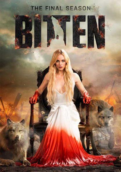 Bitten TV show on Syfy: season 3 canceled, no season 4. Bitten TV show on DVD.