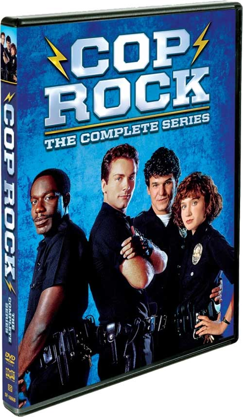 Cop Rock TV show on ABC. Cop Rock: The Complete Series on DVD from Shout! Factory.