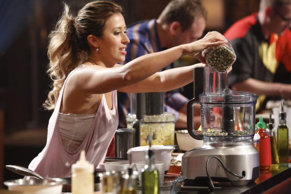 "MASTERCHEF: Contestant Cassie Peterson in the all-new ""Battle for a White Apron Pt. 2"" episode of MASTERCHEF airing Wednesday, June 8 (8:00-9:00 PM ET/PT) on FOX. © 2016 FOX Broadcasting Co. Cr: Greg Gayne / FOX ."
