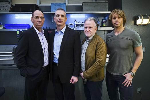 NCIS: Los Angeles: TV show on CBS: showrunner Shane Brennan exits before season 8 (canceled or renewed?).