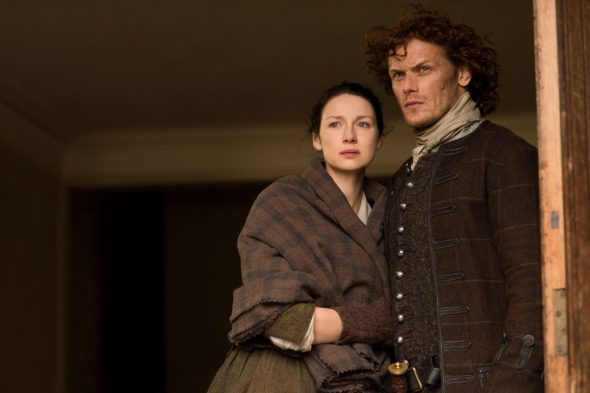 Outlander TV show on Starz: season 2 finale extended (canceled or renewed?).
