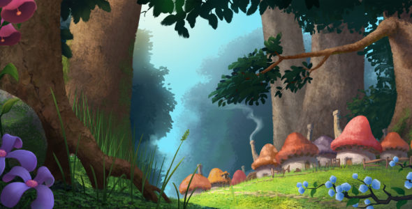 The Smurfs The Lost Village TV show feature film sequel from Sony in 2017.