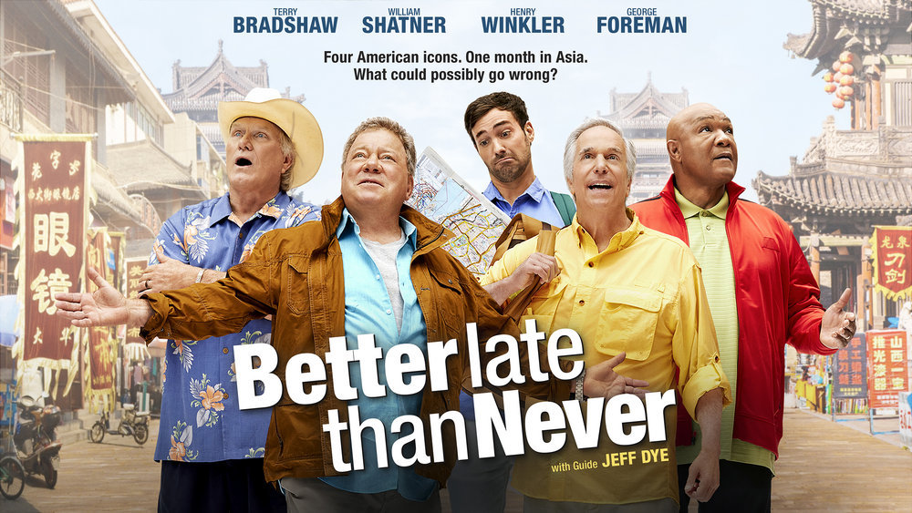Better late than never william shatner henry winkler Better homes tv show