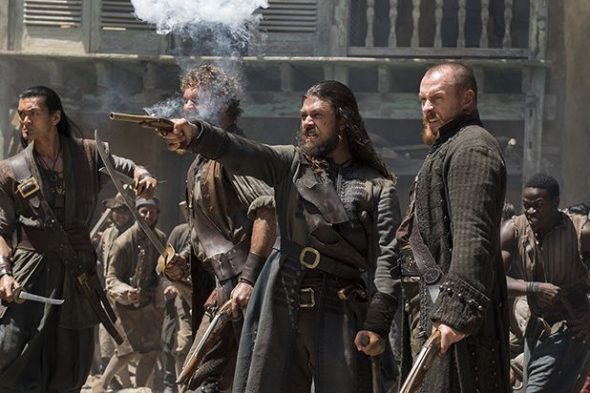 Black Sails TV show on Starz: season 4, ending; no season 5.