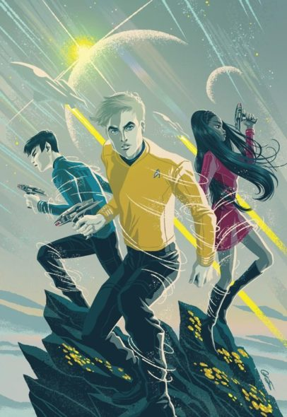 Star Trek TV show; Star Trek: Boldly Go comic series; Star Trek Beyond.