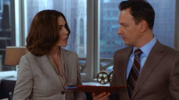 conclusion on the series finale, Sunday, May 8 (9:00-10:00 PM, ET/PT) on the CBS Television Network. Pictured Julianna Margulies as Alicia Florrick and Josh Charles as Will Gardner Photo: Best Possible Screen Grab/ CBS ©2016 CBS Broadcasting, Inc. All Rights Reserved