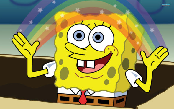 Spongebob Squarepants TV show on Nickelodeon